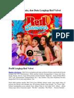 Profil, Biodata, Dan Data Lengkap Red Velvet