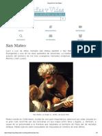 Biografia de San Mateo