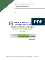 Reglamento de Certificacion y Recertificacion Cpc