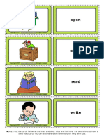 Action Verbs 1 Esl Vocabulary Game Cards for Kids