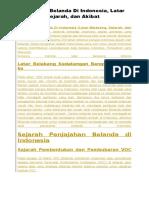 Penjajahan Belanda Di Indonesia.docx