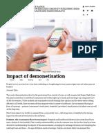 Impact of Demonetisation