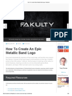 How to Create an Epic Metallic Band Logo _ Medialoot