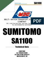 Sơ đồ tải của cầu SA1100 (MJCT)