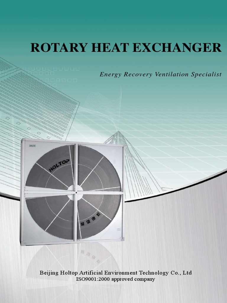 Catalogue of Rotary Heat Exchanger | Humidity | Heat Exchanger