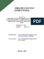 Memoria de Cálculo - Parque LIMA