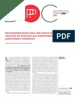 126 DPP PS, Recomendaciones Para Una Nueva Ley Nacional de Licencias Por Maternidad, Paternidad y Familiares, Repetto, Bonari y Díaz Langou