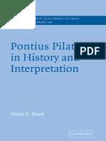 pontius pilate in history and interpretation bond helen k