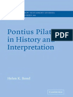 BOND, Helen K. (2004), Pontius Pilate in History and Interpretation. New York, Cambridge University Press.pdf
