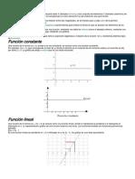 Clasificacion de Funciones Matematicas