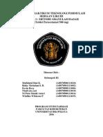 Laporan Granulasi Basah TFS