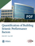 FEMA P695 - Quantification of Building Seismic Performance Factors