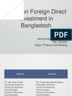 Study on FDI in Bangladesh