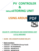 Solar PV Monitoring Control - UG Project