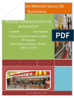 115450208 Proceso Administrativo de Mcdonald
