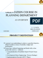Orientation Course in Planning Dept