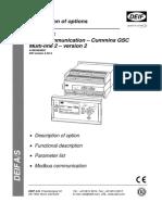 4189340360_Description of Option H6 (Serial Communication - Cummins GCS)