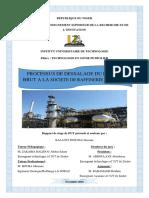 Processus de Dessalage Du Petrole à La Soraz