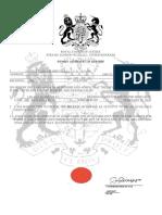 Sworn Affidavit of Kinship