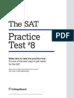 PDF Sat Practice Test 8