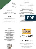Audiciòn 1ª Metal 15-16
