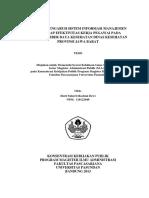 Tesis Analisis Sim Dan Efektif Kinerja PDF