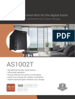 ASUSTOR AS1002T 2-Bay Entry Level NAS Multimedia Server Datasheet
