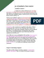 The Steps of Qualitative Data Analysis