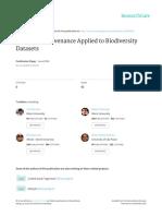Amanqui Et Al. - 2016 - A Model of Provenance Applied to Biodiversity Datasets