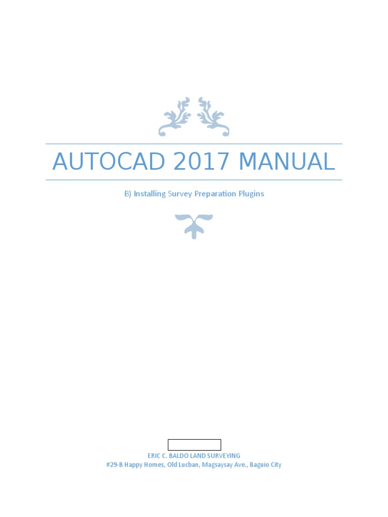 Manual on Installing Autocad 2017 Survey Preparation Plugin | Auto