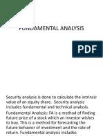 UNIT 6 Fundamental Analysis