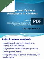 Tanase Cristian Anestezia Spinala Si Epidurala La Copii