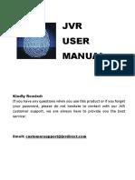 JVR Fingerprint Attendance User Manual