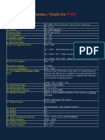 Formulas Math for PMP