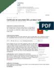 Certificat Securitate SSL