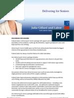 Delivering for Seniors - Fact Sheet
