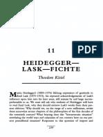 Heidegger Lask Fichte