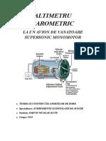 Proiect Altimetru