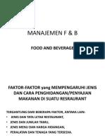Manajemen f & b