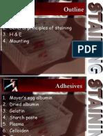 7. Adhesives, Staining, Mounting
