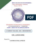 Me6503 Dme Unit 3 Study Notes 2015