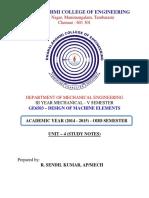 Me6503 Dme Unit 4 Study Notes 2015