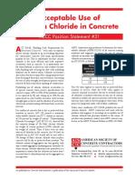 PS 31 Acceptable Use Calcium Chloride Concrete