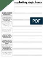 Combining Simple Sentences WORKSHEET