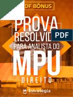 Prova MPU Resolvida - Analista