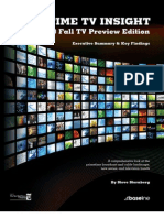 Primetime TV Insight -- Fall TV Preview Edition - - Executive Summary