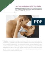 5 Cosas Que Buscan en El Sexo Los Hombres de 20