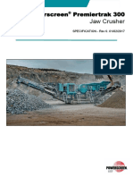 Powerscreen Premiertrak 300 Technical Specification