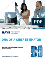 Hays DNA of a Chief Estimator