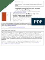 Vehicle System Dynamics Volume 29 Issue 6 1998 [Doi 10.1080_00423119808969381] DIETZ, STEFAN; NETTER, HELMUTH; SACHAU, DeLF -- Fatigue Life Prediction of a Railway Bogie Under Dynamic Loads Through